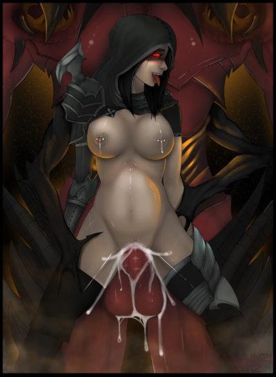 暗黑破壞神3 奪魂之鐮 Diablo 3 ディアブロ Demon Hunter 狩魔獵人的H同人圖 口交 中出 內射 足交 8P 同人誌 Doujin Hentai 成人漫畫 H漫 色情同人 線上看